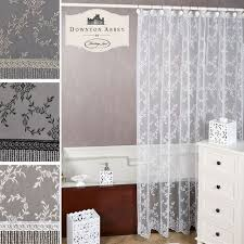 white lace shower curtain. Yorkshire Lace Shower Curtain 72 X White V