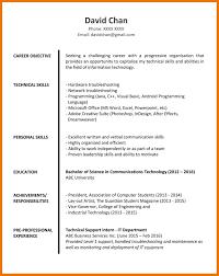 6 7 Resume Objectives For Fresh Graduates 1trader1 Com
