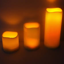 relax outdoors in softly flickering candle light from outdoor led candles with a handy timer function