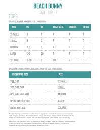 34dd Size Chart Size Charts Bikini Sizing Information And Helpful Guide