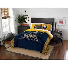 nhl sabres draft 3 piece multi color polyester full queen comforter set