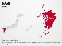 Japan Map Powerpoint Template Kyushu Japan Powerpoint Map Slides