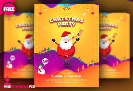 Christmas Flyer Templates Free Christmas Party Poster Template Freedownloadpsd Com