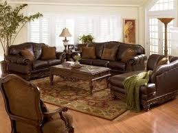 Incredible Brown Leather Sofa And Loveseat Dark Brown Full Protected