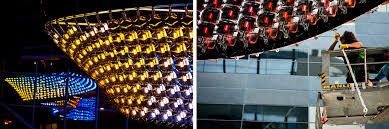 not only is it the world s largest chandelier it is also the largest interactive led light sculpture