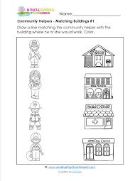 Place clipart community worksheet - Pencil and in color place ...