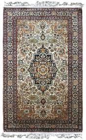 pure silk brown handmade rugs from wool india