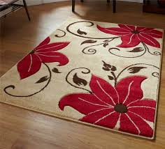 Red And Beige Rug Designs