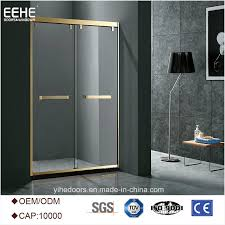 modern glass front doors inspire modern shower room enclosure with clear glass made in china