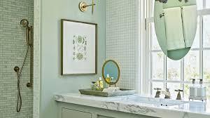 beach house bathroom. In The Guest Bath Of Rosemary Beach Ultimate House, An Oval Mirror Is House Bathroom S