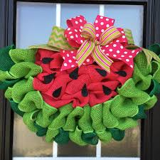Decorative Door Hangers Watermelon Wreath Watermelon Slice Door Hanger Made With