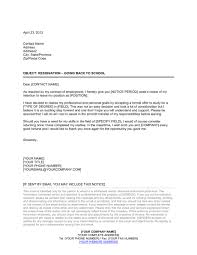 Letter Of Intent To Return To Work After Resignation Resignation Letter Going Back To School Template Word