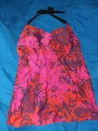 New Liz Lange Maternity Swimsuit Tankini Top Small Fast Free