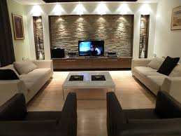 diy wall decor living room contemporary with recessed lighting metal console tables
