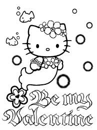 Hello kitty (full name kitty white) is a fictional character produced by the japanese company sanrio. Hello Kitty Mermaid Coloring Pages Free Printable Hello Kitty Mermaid Coloring Pages
