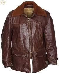 vintage 50s blati chicago steerhide leather jacket l