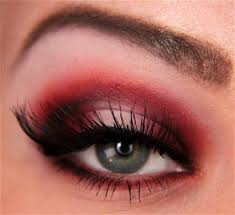then apply false lashes and eyeliner if you want mine are mac 48 maybe not the best choice