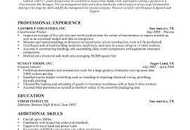 Resume For General Job Resume Samples Construction Laborer