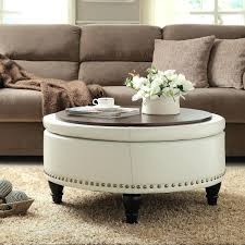round glass coffee table with ottomans coffee table ottoman bo awesome ottoman wooden coffee