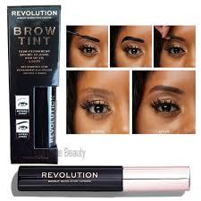 details about makeup revolution semi permanent brow tint dark brown