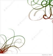 Swirls Templates Swirl Borders A White Background With Shaded Green Red Swirls In Corners