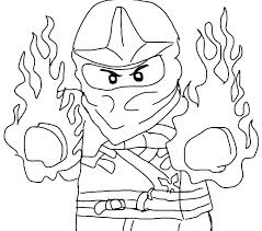Lego Ninjago Coloring Pages Printable Colouring Jay Acnee