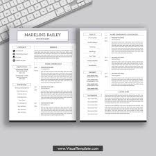 Modern 2020 Resume 2019 2020 Pre Formatted Resume Template With Resume Icons Fonts And Editing Guide Unlimited Digital Instant Download Resume Template Fully