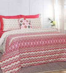 red 100 cotton 108 x 90 inch carnival prime king duvet cover set of