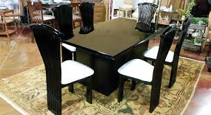 splendid black lacquer dining room set at style home design