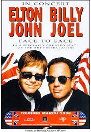 Billy joel 1984 keeping the faith original promo poster. Elton John Billy Joel Face To Face Tour Duet Lot 51123 Heritage Auctions