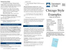 Chicago Citation Guides Research Guides At University Of Mary