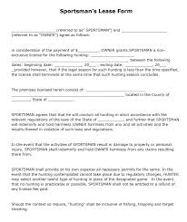 Lease Violation Form Hunting Lease Agreement Template Myexampleinc
