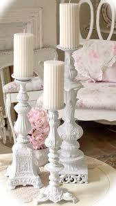 vintage shabby chic lighting. repurpose old lamp bases from thrift shopsyard sales spray paint white and make candle pillars such an easy diy that yields great results vintage shabby chic lighting
