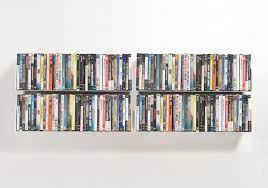 dvd wall shelf 60 x 15 cm set of 4