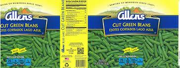 allens green beans recall