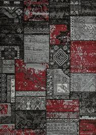grey red patchwork contemporary 8x11 area rug graphic red black and gray area rugs