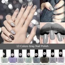 13 šedé Barvy Dlouhotrvající šedé Nehty Osobnosti Osobnosti Umění S Namočením Nehtů Uv Gel At Vova