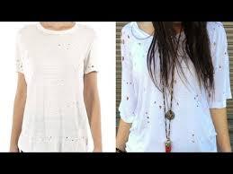 diy fashion edgy t shirt with holes designer diy
