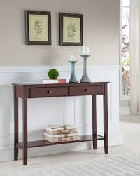 entryway console table. Noah Walnut Wood Contemporary Occasional Entryway Console Sofa Table With Storage Drawers \u0026 Shelf M