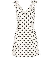 Corsage Dotted Linen Dress