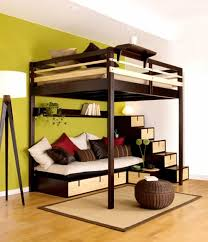 Teens Bedroom Bunk Bed For Teenager Wood With Futon Modern Cool Beds Ideas  Teenagers Stairs Girl