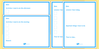 Daily Checklist Planner Daily Planner Checklist
