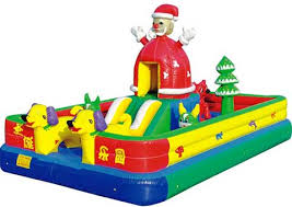 Image result for bounce house christmas