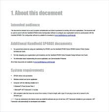 Instruction Manual Template Sample User Manual Template Software Free Download Naveshop Co