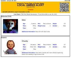 Amber Alert from Texas DPS features ...
