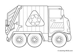 Small Picture Garbage truck Coloring pages for kids Transportation coloring
