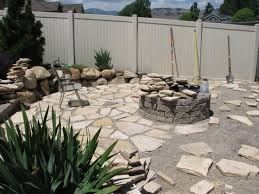 pea gravel patio with fire pit backyard firepit
