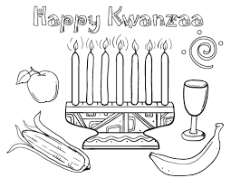 Small Picture Printable Kwanzaa coloring page Free PDF download at http
