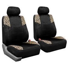 car seat covers leopard print velour s airbag split 1