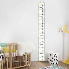 Canvas Height Chart Us 12 93 35 Off Personalized Removable Canvas Growth Chart Kid Height Chart Wooden Wall Hanging Kids Room Wall Decorative Measure Height Sticker In